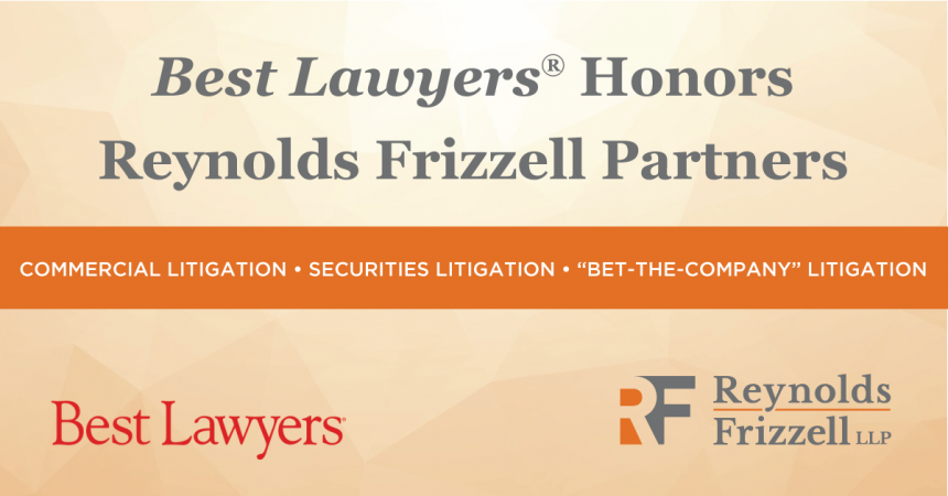 03631690e77a Four Reynolds Frizzell Partners Recognized Among The Best Lawyers in America
